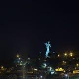 Άγαλμα Λα Virgen de EL Panecillo στο Κουίτο, Ισημερινός τη νύχτα Στοκ Φωτογραφίες
