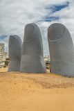 Άγαλμα μέσα Punta del Este Στοκ Φωτογραφίες