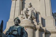 Άγαλμα Μαδρίτη Θερβάντες Στοκ Εικόνα