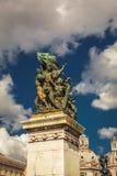 Άγαλμα νίκης στη νεφελώδη Ρώμη Στοκ Εικόνες