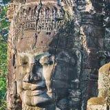 Άγαλμα ναών Bayon Prasat, Angkor, Καμπότζη Στοκ Εικόνες
