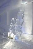 Άγαλμα πάγου σε μια παγοκαλύβα σε Engelberg Στοκ εικόνες με δικαίωμα ελεύθερης χρήσης