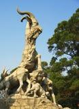 Άγαλμα πέντε αιγών στην πόλη Κίνα Guangzhou Στοκ Εικόνες