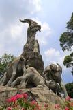 Άγαλμα πέντε αιγών Στοκ Εικόνα
