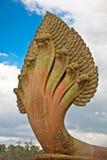 Άγαλμα πετρών Naga στο ναό Angkor Wat, Καμπότζη Στοκ εικόνες με δικαίωμα ελεύθερης χρήσης