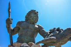 Άγαλμα Ποσειδώνα βασιλιάδων στην παραλία της Βιρτζίνια Στοκ Φωτογραφία
