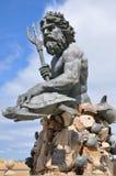 Άγαλμα Ποσειδώνα στην παραλία της Βιρτζίνια Στοκ Εικόνα