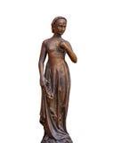 Άγαλμα που απομονώνεται θηλυκό στο λευκό στοκ φωτογραφία