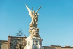 Άγαλμα που αφιερώνεται στον ποιητή Manuel saltillense Acula στο plaza Acuna Στοκ φωτογραφίες με δικαίωμα ελεύθερης χρήσης