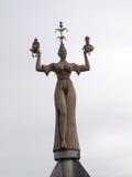 Άγαλμα που βρίσκεται στην είσοδο του λιμένα Konstanz Στοκ Φωτογραφία