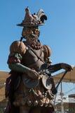 Άγαλμα που γιορτάζει τα τρόφιμα στο ύφος Arcimboldo Στοκ Φωτογραφία