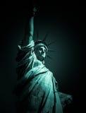 Άγαλμα πόλεων της Νέας Υόρκης του σύντομου χρονογραφήματος ελευθερίας Στοκ εικόνα με δικαίωμα ελεύθερης χρήσης