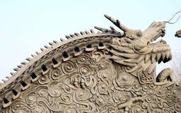Άγαλμα δράκων Στοκ Φωτογραφία