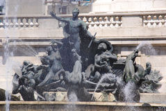 Άγαλμα σε του Κογκρέσου Plaza Στοκ Φωτογραφία