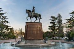 Άγαλμα σε Logrono Στοκ Φωτογραφίες