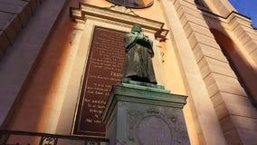 Άγαλμα στην εκκλησία Slottskyrkan, βασιλικό παρεκκλησι της Στοκχόλμης, Σουηδία απόθεμα βίντεο