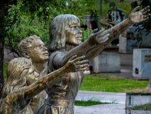 Άγαλμα στην οικογένεια Στοκ Εικόνα