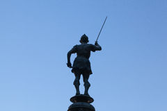 Άγαλμα στην πηγή υδραργύρου σε Plaza de Σαν Φρανσίσκο, Σεβίλη, SPA Στοκ φωτογραφίες με δικαίωμα ελεύθερης χρήσης