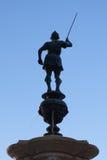 Άγαλμα στην πηγή υδραργύρου σε Plaza de Σαν Φρανσίσκο, Σεβίλη, SPA Στοκ φωτογραφία με δικαίωμα ελεύθερης χρήσης