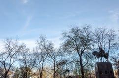 Άγαλμα στην πόλη Central Park της Νέας Υόρκης Στοκ φωτογραφίες με δικαίωμα ελεύθερης χρήσης