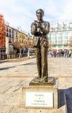 Άγαλμα στον ισπανικό ποιητή Federico Garcia Lorca στη Μαδρίτη Στοκ Φωτογραφία