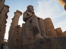 Άγαλμα στο ναό Karnak σε Luxor, Αίγυπτος Στοκ Εικόνες