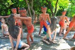 Άγαλμα στο πάρκο φρίκης κόλασης της Ταϊλάνδης Στοκ εικόνα με δικαίωμα ελεύθερης χρήσης