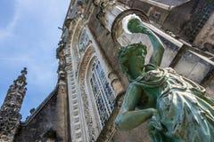 Άγαλμα στο παλάτι Bussaco, Πορτογαλία Στοκ Εικόνα