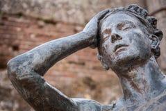 Άγαλμα στο ρωμαϊκό θέατρο της λεπτομέρειας του Μέριντα Στοκ εικόνα με δικαίωμα ελεύθερης χρήσης