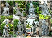 Άγαλμα στο wat po Μπανγκόκ Ταϊλάνδη Στοκ Εικόνες