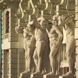 Άγαλμα - τέσσερα ισχυρά άτομα Στοκ εικόνα με δικαίωμα ελεύθερης χρήσης
