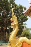 άγαλμα Ταϊλανδός naga βασιλιά Στοκ εικόνες με δικαίωμα ελεύθερης χρήσης