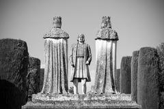 Άγαλμα της άνω και κάτω τελείας και οι χριστιανικοί βασιλιάδες στην Κόρδοβα Στοκ φωτογραφίες με δικαίωμα ελεύθερης χρήσης