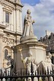 Άγαλμα της βασίλισσας Anne στον καθεδρικό ναό του ST Paul στο Λονδίνο Στοκ φωτογραφία με δικαίωμα ελεύθερης χρήσης