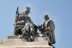 Άγαλμα της βασίλισσας Isabella και Christopher Columbus Στοκ εικόνα με δικαίωμα ελεύθερης χρήσης