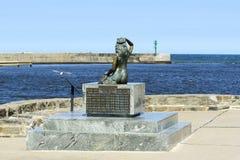 Άγαλμα της γοργόνας σε Ustka Στοκ εικόνες με δικαίωμα ελεύθερης χρήσης