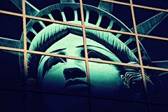 Άγαλμα της ελευθερίας, Αμερική, αμερικανικά, Ηνωμένες Πολιτείες Στοκ Φωτογραφίες