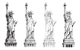 Άγαλμα της ελευθερίας, διανυσματική συλλογή των απεικονίσεων Στοκ Φωτογραφίες