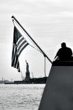 Άγαλμα της ελευθερίας στην πόλη της Νέας Υόρκης Στοκ Φωτογραφίες