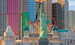 Άγαλμα της ελευθερίας στο νέες Υόρκη-νέες ξενοδοχείο και τη χαρτοπαικτική λέσχη της Υόρκης Στοκ Εικόνα