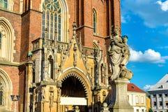 Άγαλμα της κυρίας μας στον καθεδρικό ναό Wroclaw - Πολωνία Στοκ εικόνα με δικαίωμα ελεύθερης χρήσης