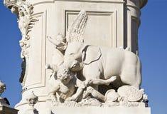 Άγαλμα της Λισσαβώνας των DOM Jose βασιλιάδων Στοκ εικόνες με δικαίωμα ελεύθερης χρήσης