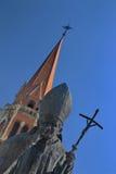 Άγαλμα της μπαμπά John Paul II Στοκ Εικόνες