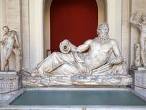 Άγαλμα της προσωποποίησης μουσείο των ποταμών Τίγρης, Βατικανό Στοκ Φωτογραφία