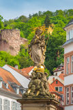 Άγαλμα της Χαϋδελβέργης στην παλαιά πόλη Στοκ εικόνα με δικαίωμα ελεύθερης χρήσης