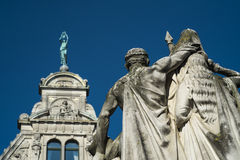Άγαλμα της Fransης του Ιαν. Willems σε Gent Στοκ Εικόνα