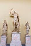 Άγαλμα της Hermes, στη στοά των αγαλμάτων στο Βατικανό Museu Στοκ Φωτογραφίες
