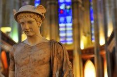 Άγαλμα της Hermes/υδράργυρος στοκ εικόνες