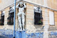 Άγαλμα του άτλαντα Στοκ φωτογραφία με δικαίωμα ελεύθερης χρήσης