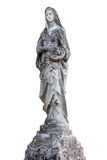 Άγαλμα του αγγέλου που απομονώνεται στο λευκό Στοκ εικόνα με δικαίωμα ελεύθερης χρήσης